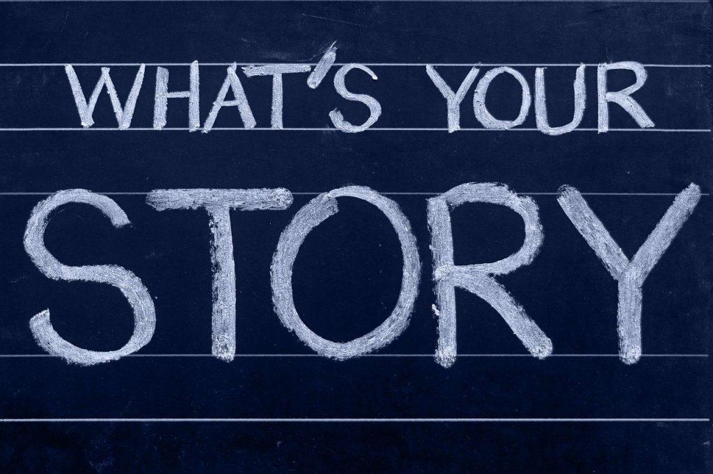 chalkboard, story, blogging